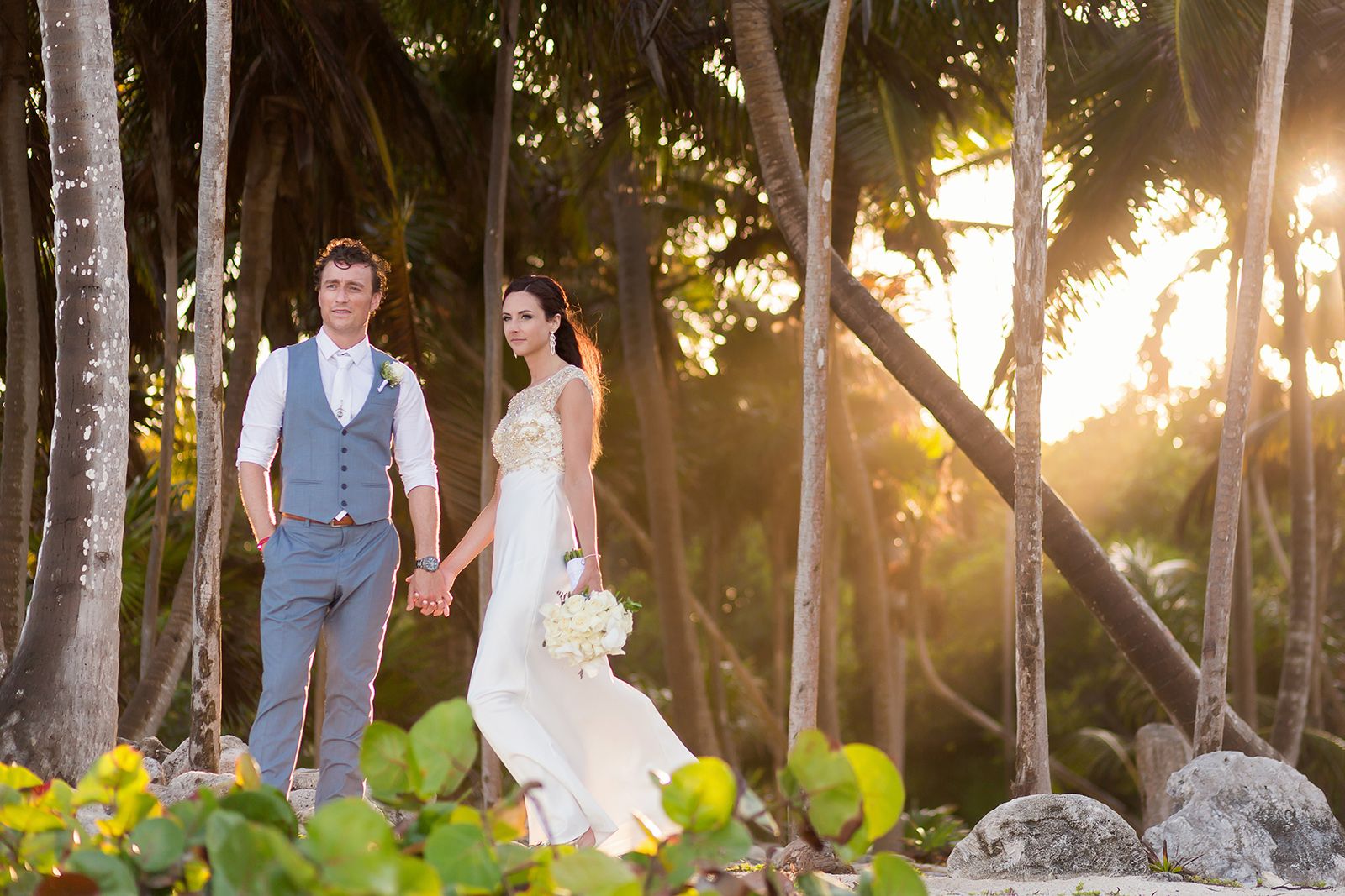 Couple portrait Sirenis Riviera Maya Wedding