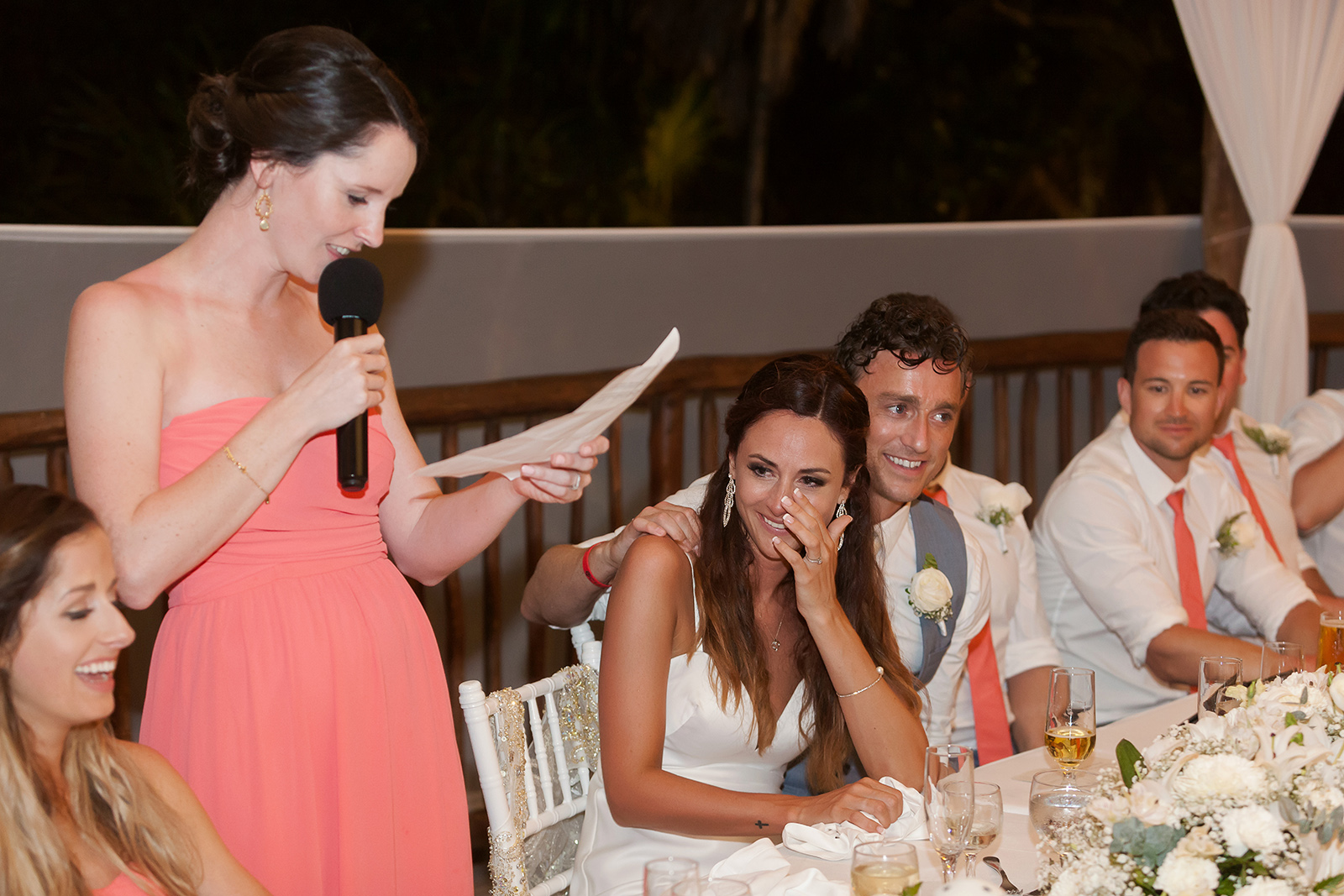 Wedding speech at Grand Sirenis wedding reception