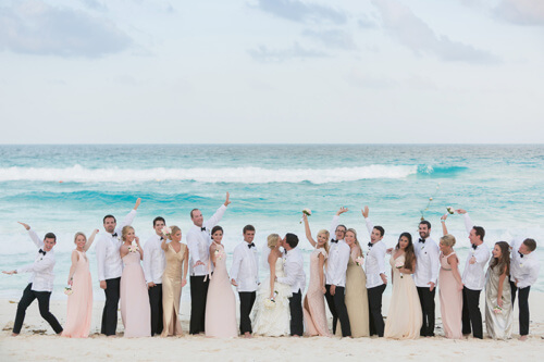 The destination wedding party