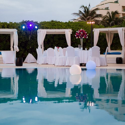 Wedding reception location at Live Aqua Cancun