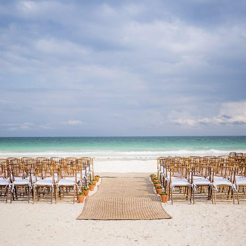 Wedding ceremony location in Tulum