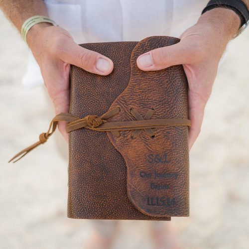 bible at wedding in Tulum