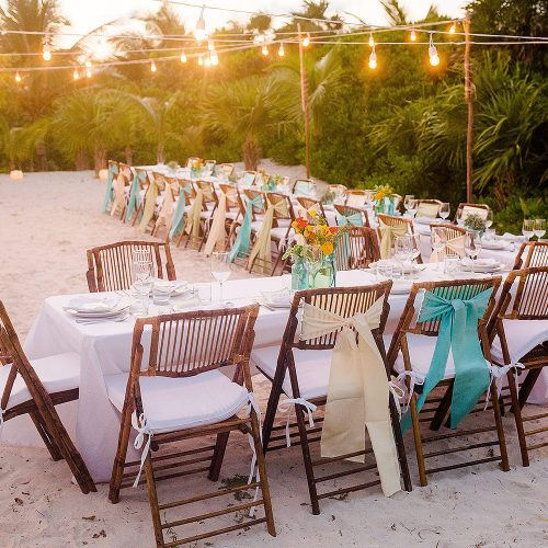 Wedding reception location at Tulum wedding