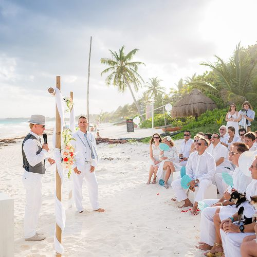 Wedding ceremony at Hacienda Paraiso, Tulum