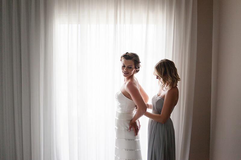 Bride getting ready at Azul Fives resort