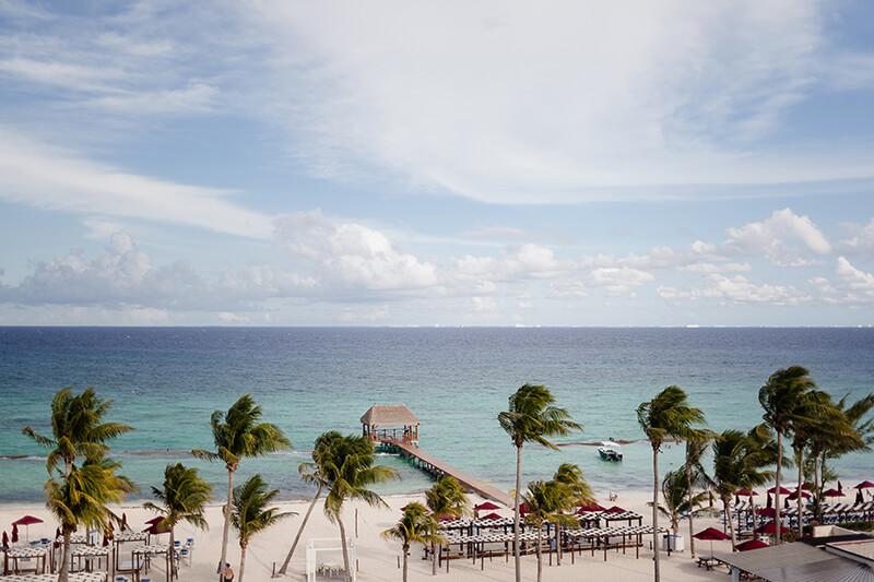 Beach at Azul Fives Resort, Riviera Maya Mexico.