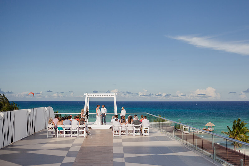 Azul Fives sky deck wedding ceremony