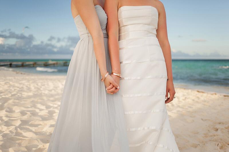 Beautiful Bridesmaids photograph with bracelets