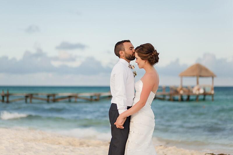 Wedding Photograph at Azul Fives, Playa del Carmen