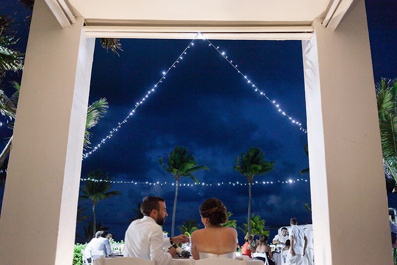 Bride and groom at Azul Five's resort