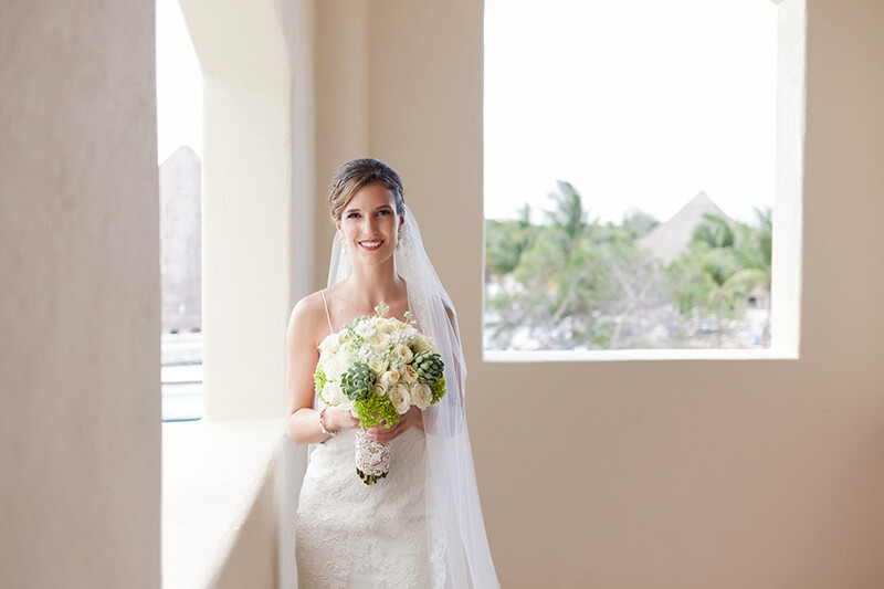 Bridal photography at Secrets Maroma Beach Riviera Cancun Resort