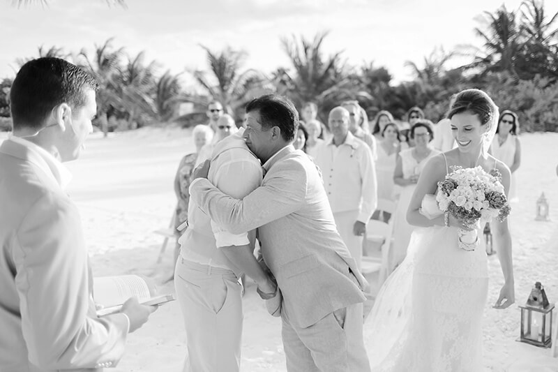 Black and white wedding photography at Secrets Maroma Beach Riviera Cancun Resort