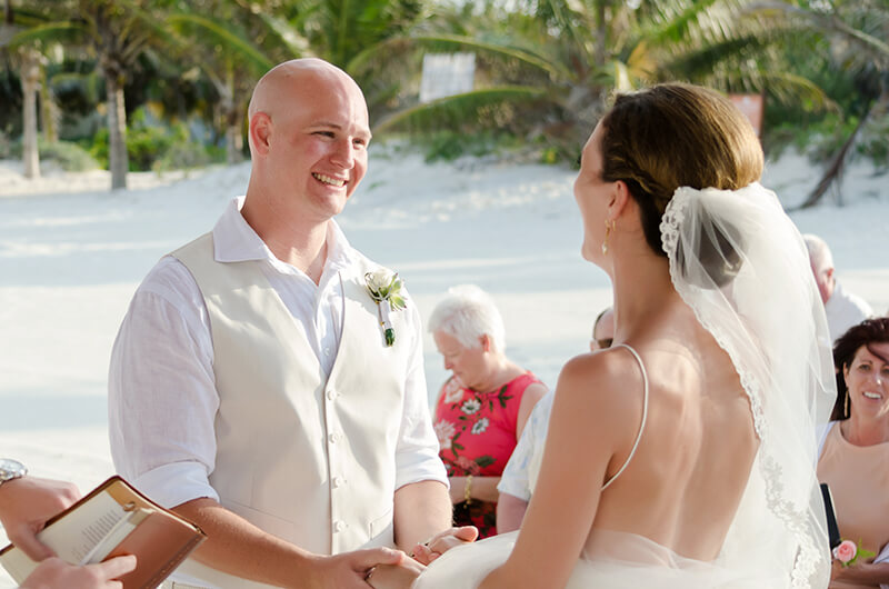 Couple getting married at Secrets Maroma Beach Riviera Cancun Resort