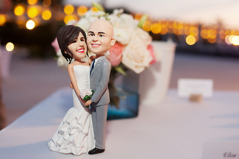 Cake topper picture close up detail at Secrets Maroma Beach Riviera Cancun
