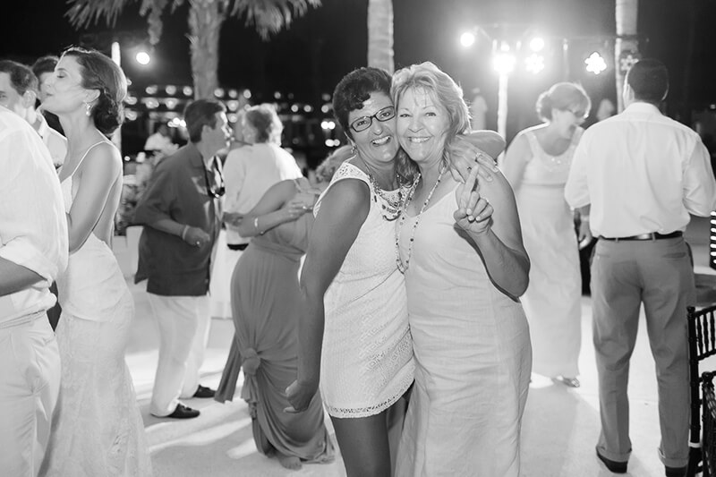 Black and White wedding reception photography at Secrets Maroma Beach Riviera Cancun Resort