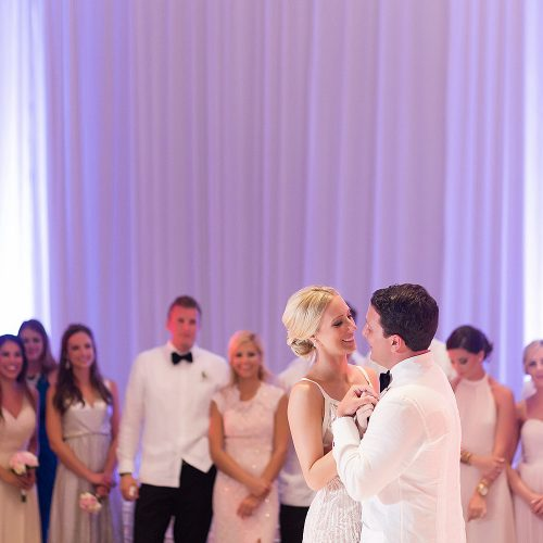 Couple first dance at Hard Rock Cancun destination wedding