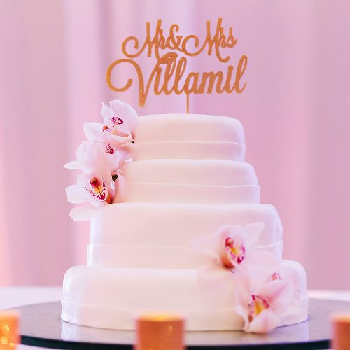 Cake detail photography at Hard Rock Cancun destination wedding