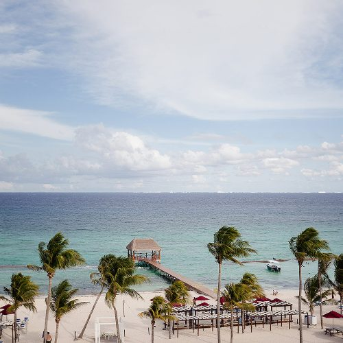 View from sky-deck at Azul Fives Hotel, Riviera Maya