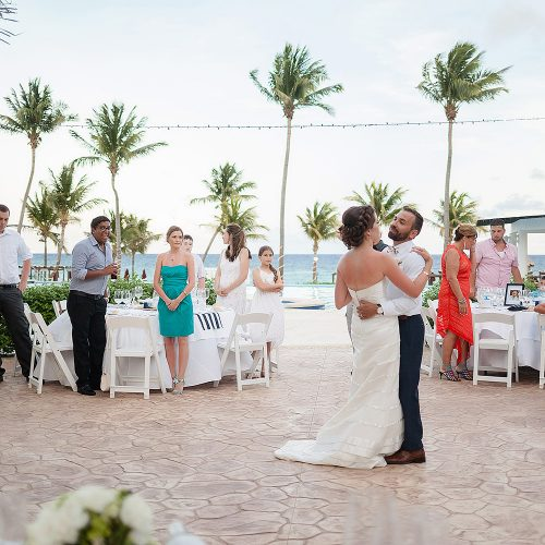 First dance at Azul Fives Hotel, Riviera Maya wedding