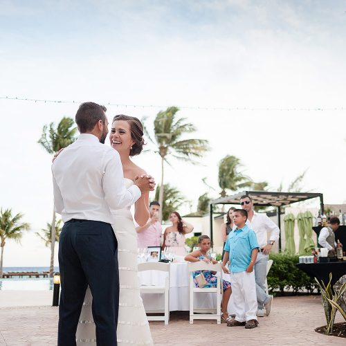 First dance at Azul Fives Hotel, Riviera Maya wedding