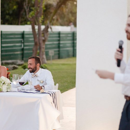 Speech at wedding in Riviera Maya