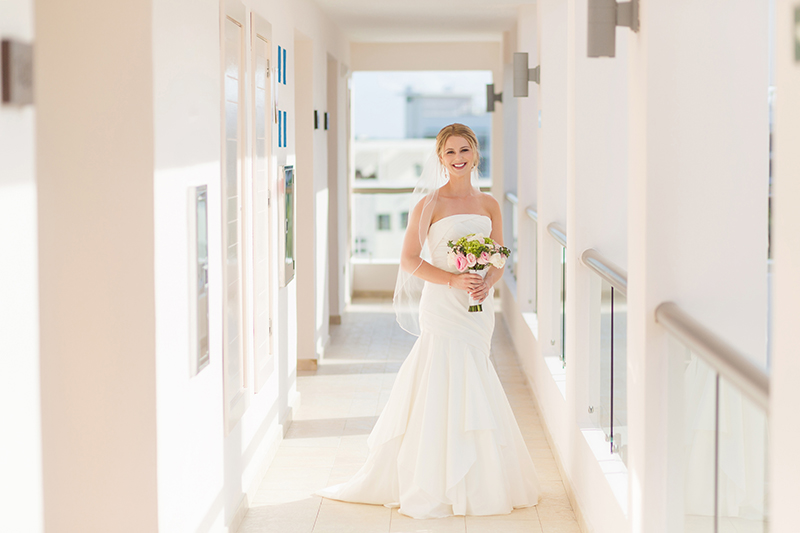 Bridal portrait before wedding at Excellence Playa Mujeres