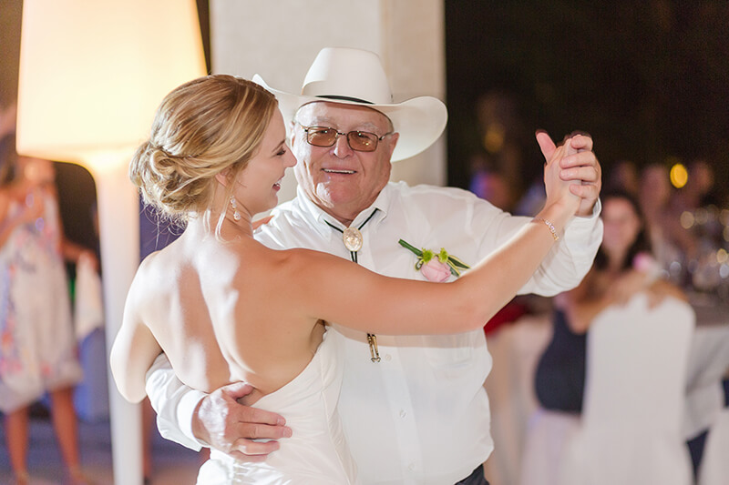 Father daughter dance at Excellence Playa Mujeres wedding