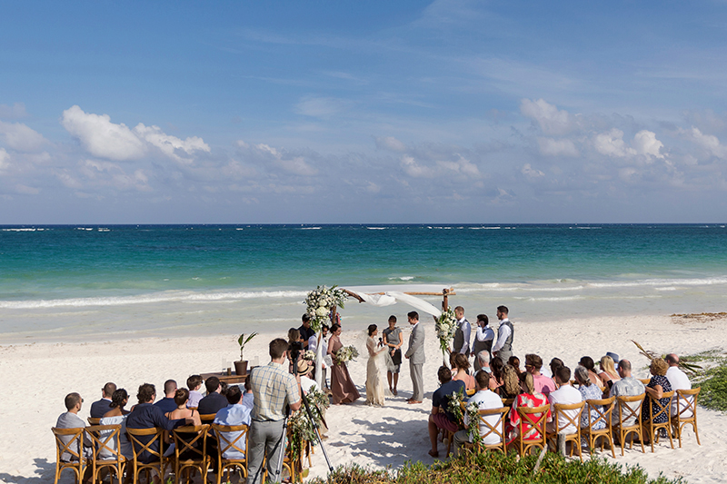 Wedding ceremony in Tulum