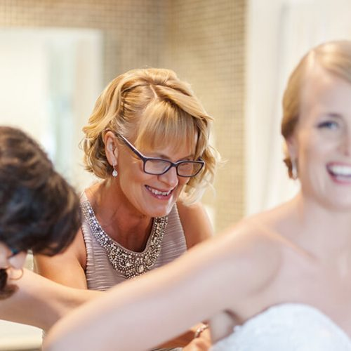 Bride getting ready for her wedding at Azul Fives Hotel, Riviera Maya