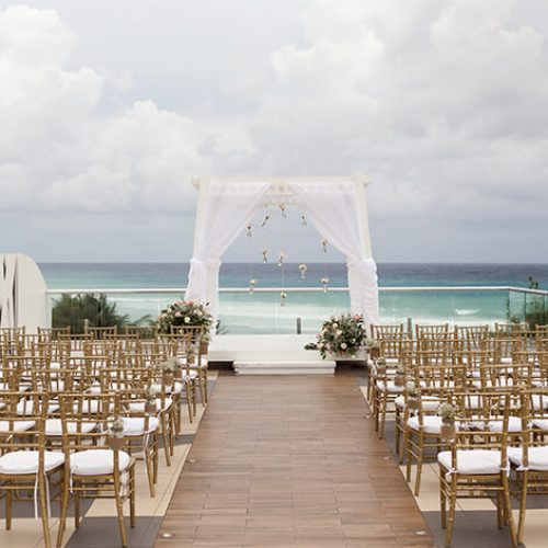 Ceremony location at Azul Fives Hotel sky deck