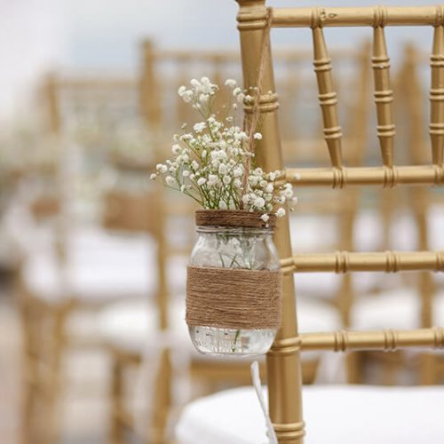 Close up of ceremony location at Azul Fives Hotel