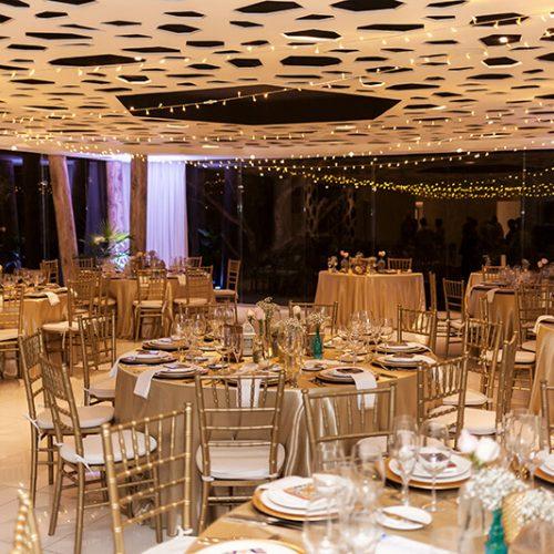 Reception set up at Azul Fives Hotel