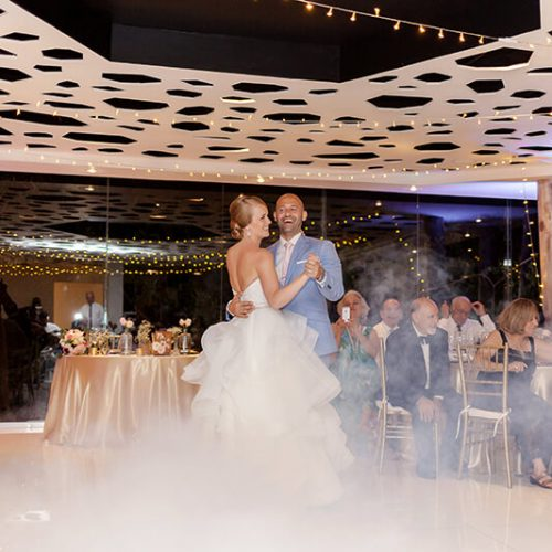 Bride and grooms first dance at Azul Fives Hotel wedding