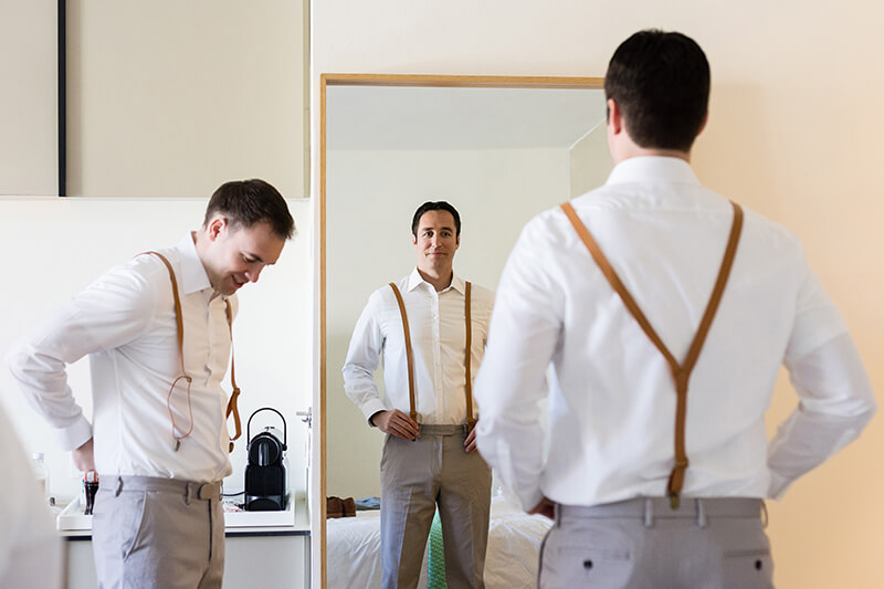 Groomsmen getting ready at Finest Playa Mujeres Resort
