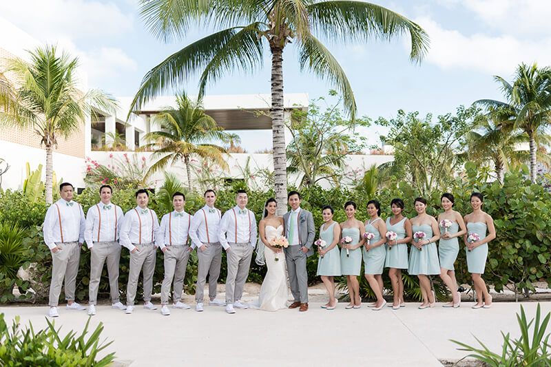 Bridal party at Finest Playa Mujeres Wedding