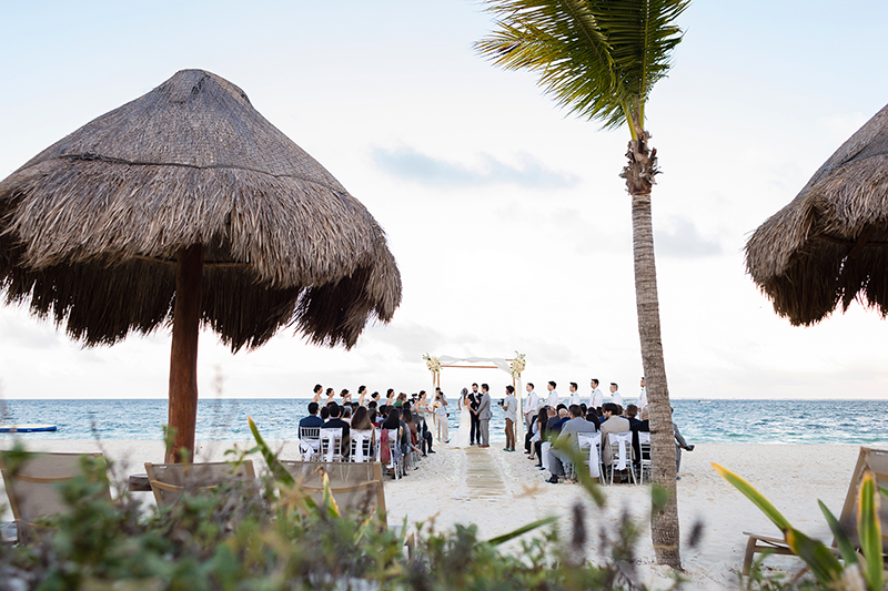 Beach wedding ceremony at Finest Playa Mujeres Resort