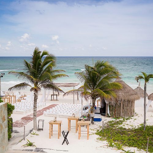 Wedding ceremony location at Al Cielo, Riviera Maya