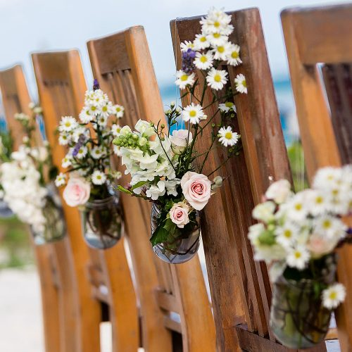 Close up of ceremony at Akiin, Tulum