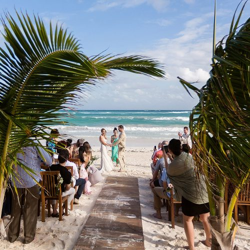 Wedding ceremony at Akiin Tulum