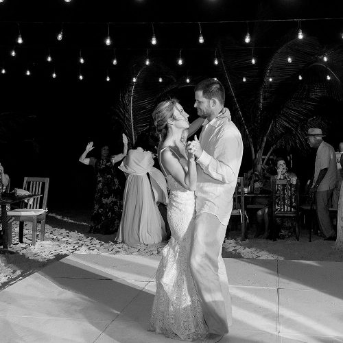 Bride and Groom's first dance at Akiin, Tulum