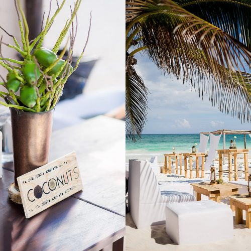 Details at Riviera Maya wedding.