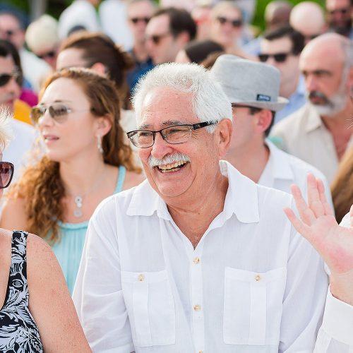 Happy father at Riviera Maya weddig