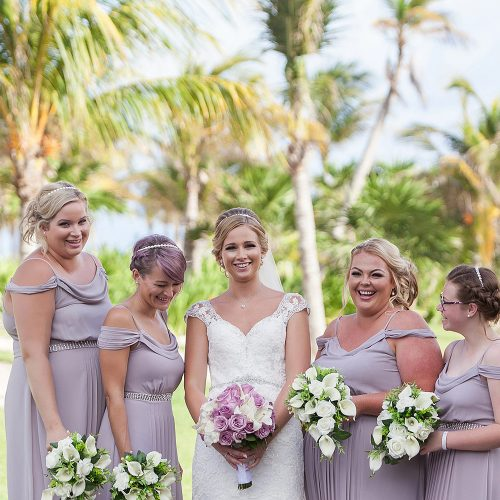 Bridesmaids at Royalton Riviera Cancun Wedding