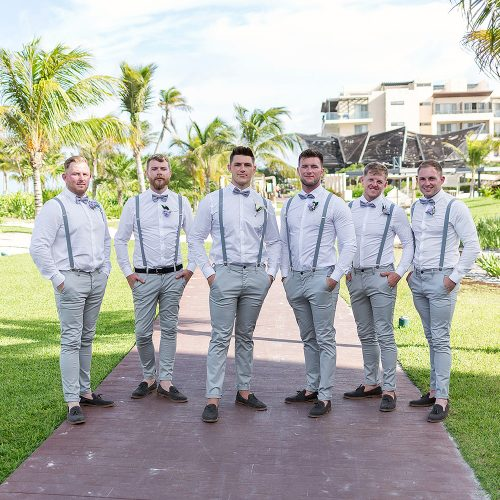 Groomsmen at Royalton Riviera Cancun Wedding