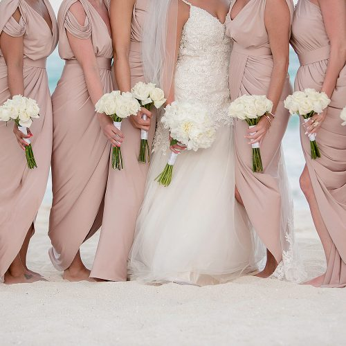 Bridal bouquets from Secrets on the vine Cancun resort