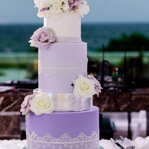 Wedding cake at Moon Palace Cancun