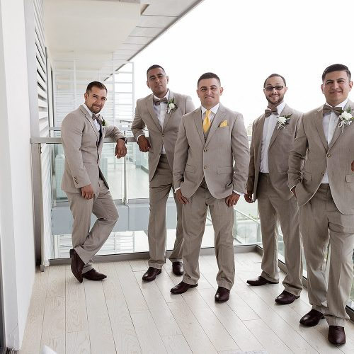 All the groomsmen before the wedding