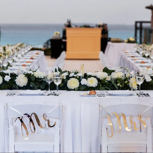 Wedding reception at Secrets on the Vine in Cancun