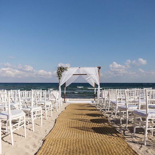 Ceremony location at Punta Venado, Riviera Maya Mexico