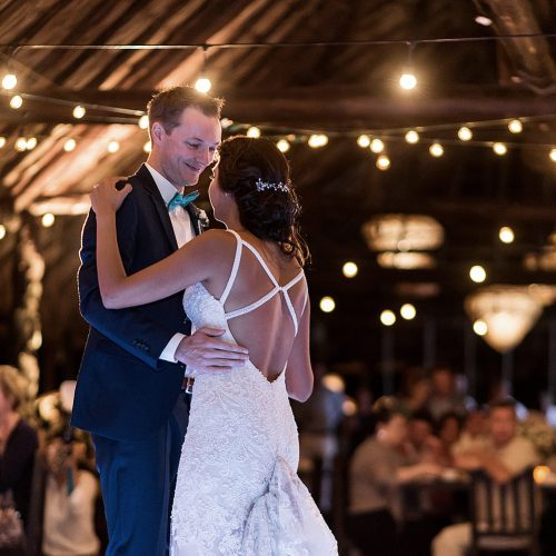 Bride and grooms first dance at Punta Venado, Riviera Maya Mexico